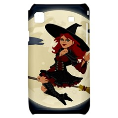 Witch Witchcraft Broomstick Broom Samsung Galaxy S i9000 Hardshell Case