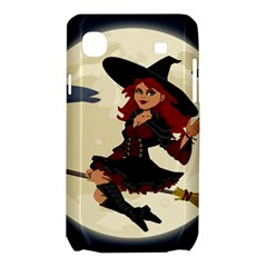 Witch Witchcraft Broomstick Broom Samsung Galaxy SL i9003 Hardshell Case