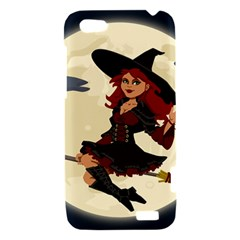 Witch Witchcraft Broomstick Broom HTC One V Hardshell Case
