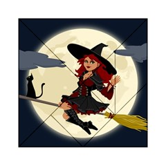 Witch Witchcraft Broomstick Broom Acrylic Tangram Puzzle (6  x 6 )