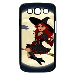 Witch Witchcraft Broomstick Broom Samsung Galaxy S III Case (Black)