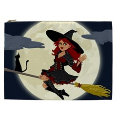 Witch Witchcraft Broomstick Broom Cosmetic Bag (XXL)