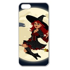 Witch Witchcraft Broomstick Broom Apple Seamless iPhone 5 Case (Clear)