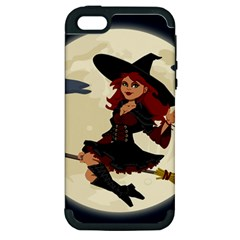 Witch Witchcraft Broomstick Broom Apple iPhone 5 Hardshell Case (PC+Silicone)