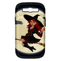 Witch Witchcraft Broomstick Broom Samsung Galaxy S III Hardshell Case (PC+Silicone)