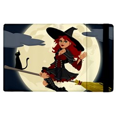 Witch Witchcraft Broomstick Broom Apple iPad 2 Flip Case