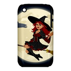 Witch Witchcraft Broomstick Broom Apple iPhone 3G/3GS Hardshell Case (PC+Silicone)