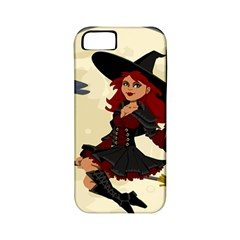 Witch Witchcraft Broomstick Broom Apple iPhone 5 Classic Hardshell Case (PC+Silicone)