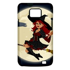 Witch Witchcraft Broomstick Broom Samsung Galaxy S II i9100 Hardshell Case (PC+Silicone)
