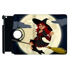 Witch Witchcraft Broomstick Broom Apple iPad 3/4 Flip 360 Case