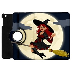 Witch Witchcraft Broomstick Broom Apple iPad Mini Flip 360 Case