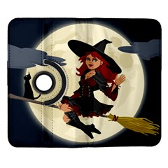 Witch Witchcraft Broomstick Broom Samsung Galaxy Note II Flip 360 Case