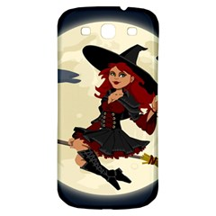 Witch Witchcraft Broomstick Broom Samsung Galaxy S3 S III Classic Hardshell Back Case