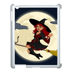 Witch Witchcraft Broomstick Broom Apple iPad 3/4 Case (White)