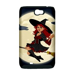 Witch Witchcraft Broomstick Broom Samsung Galaxy Note 2 Hardshell Case (PC+Silicone)