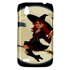 Witch Witchcraft Broomstick Broom HTC Desire V (T328W) Hardshell Case