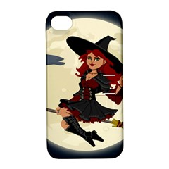 Witch Witchcraft Broomstick Broom Apple iPhone 4/4S Hardshell Case with Stand