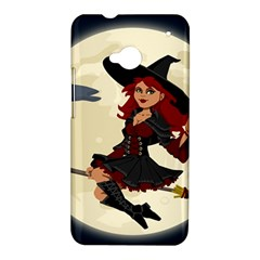 Witch Witchcraft Broomstick Broom HTC One M7 Hardshell Case