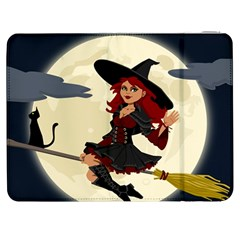Witch Witchcraft Broomstick Broom Samsung Galaxy Tab 7  P1000 Flip Case