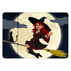 Witch Witchcraft Broomstick Broom Samsung Galaxy Tab 8.9  P7300 Flip Case