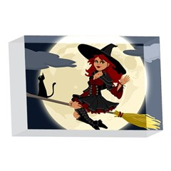 Witch Witchcraft Broomstick Broom 4 x 6  Acrylic Photo Blocks