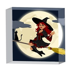 Witch Witchcraft Broomstick Broom 5  x 5  Acrylic Photo Blocks