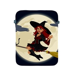 Witch Witchcraft Broomstick Broom Apple iPad 2/3/4 Protective Soft Cases