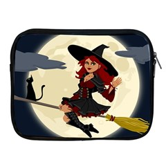Witch Witchcraft Broomstick Broom Apple iPad 2/3/4 Zipper Cases