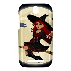 Witch Witchcraft Broomstick Broom HTC One SV Hardshell Case