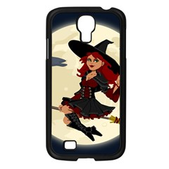 Witch Witchcraft Broomstick Broom Samsung Galaxy S4 I9500/ I9505 Case (Black)
