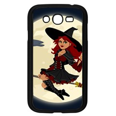 Witch Witchcraft Broomstick Broom Samsung Galaxy Grand DUOS I9082 Case (Black)
