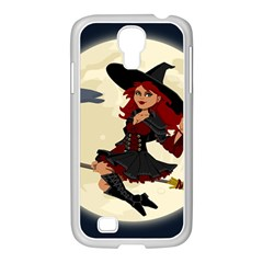 Witch Witchcraft Broomstick Broom Samsung GALAXY S4 I9500/ I9505 Case (White)