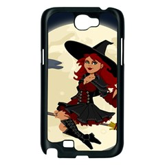Witch Witchcraft Broomstick Broom Samsung Galaxy Note 2 Case (Black)