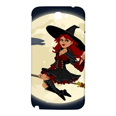 Witch Witchcraft Broomstick Broom Samsung Note 2 N7100 Hardshell Back Case