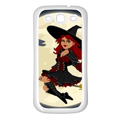 Witch Witchcraft Broomstick Broom Samsung Galaxy S3 Back Case (White)