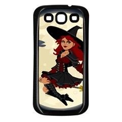 Witch Witchcraft Broomstick Broom Samsung Galaxy S3 Back Case (Black)