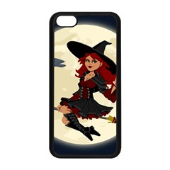 Witch Witchcraft Broomstick Broom Apple iPhone 5C Seamless Case (Black)