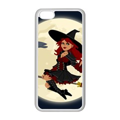 Witch Witchcraft Broomstick Broom Apple iPhone 5C Seamless Case (White)