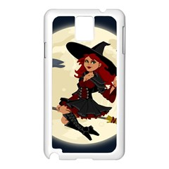 Witch Witchcraft Broomstick Broom Samsung Galaxy Note 3 N9005 Case (White)