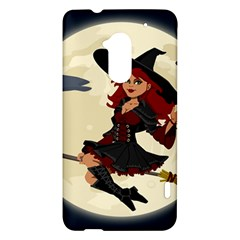 Witch Witchcraft Broomstick Broom HTC One Max (T6) Hardshell Case