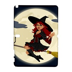 Witch Witchcraft Broomstick Broom Samsung Galaxy Note 10.1 (P600) Hardshell Case