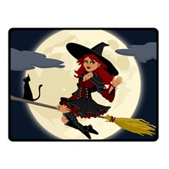 Witch Witchcraft Broomstick Broom Double Sided Fleece Blanket (Small)