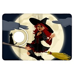 Witch Witchcraft Broomstick Broom Kindle Fire HDX Flip 360 Case