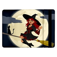 Witch Witchcraft Broomstick Broom Samsung Galaxy Tab Pro 12.2  Flip Case