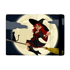 Witch Witchcraft Broomstick Broom iPad Mini 2 Flip Cases