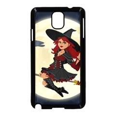 Witch Witchcraft Broomstick Broom Samsung Galaxy Note 3 Neo Hardshell Case (Black)