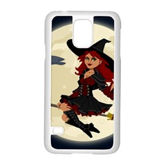 Witch Witchcraft Broomstick Broom Samsung Galaxy S5 Case (White)