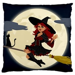 Witch Witchcraft Broomstick Broom Standard Flano Cushion Case (One Side)