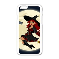 Witch Witchcraft Broomstick Broom Apple iPhone 6/6S White Enamel Case