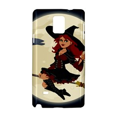 Witch Witchcraft Broomstick Broom Samsung Galaxy Note 4 Hardshell Case
